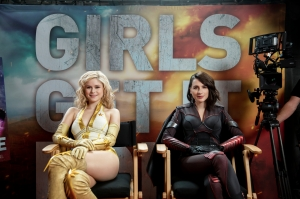 Erin Moriarty and Aya Cash in 'The Boys'