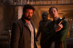 Karl Urban and Jack Quaid in 'The Boys'