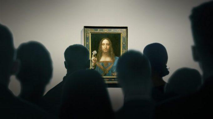 The Salvator Mundi on display in 'The Lost Leonardo'