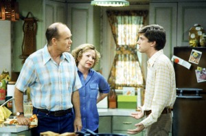 Kurtwood Smith, Debra Jo Rupp and Topher Grace in 'That '70 Show'