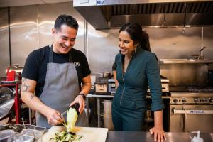 Emiliano Marentes and Padma Lakshmi in 'Taste the Nation'