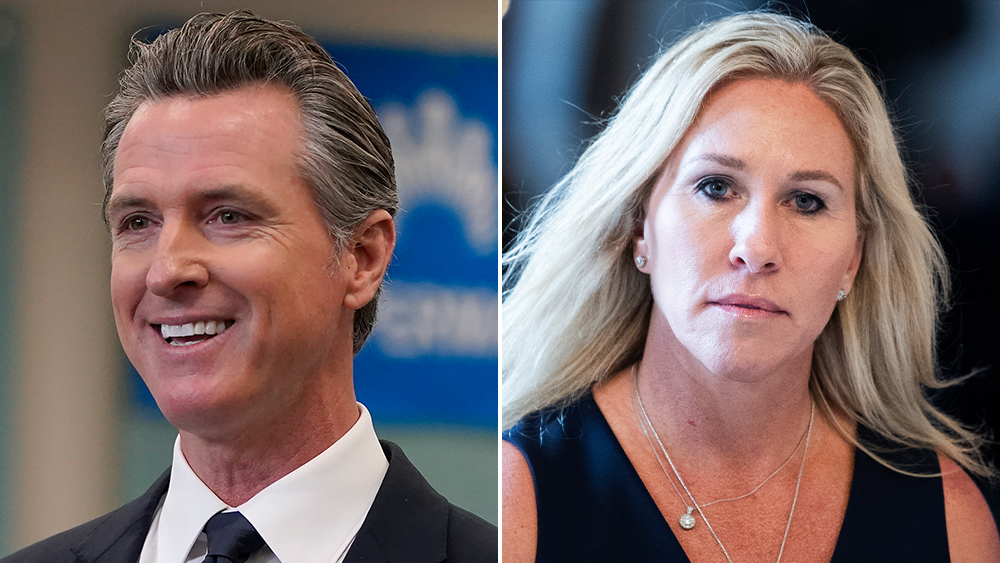 """Gavin Newsom And Marjorie Taylor Greene Trade Barbs On Twitter Over Vaccines: """"Disgraceful…Murderous"""" – Updated"""