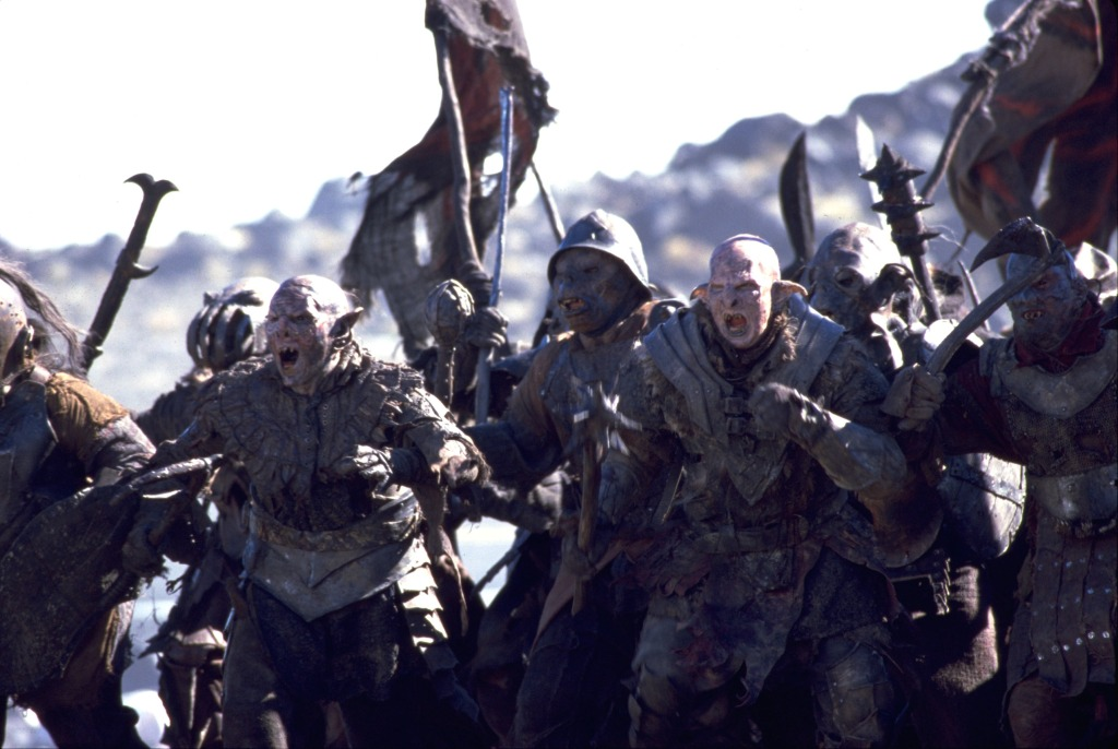 Orcs in 'The Lord of the Rings: Fellowship of the Ring'