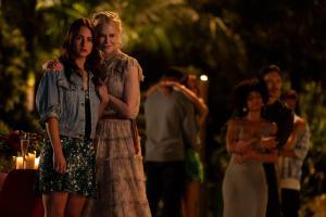 Grace Van Patten, Nicole Kidman, Melvin Gregg, Samara Weaving, Tiffany Boone, and Manny Jacinto in 'Nine Perfect Strangers'