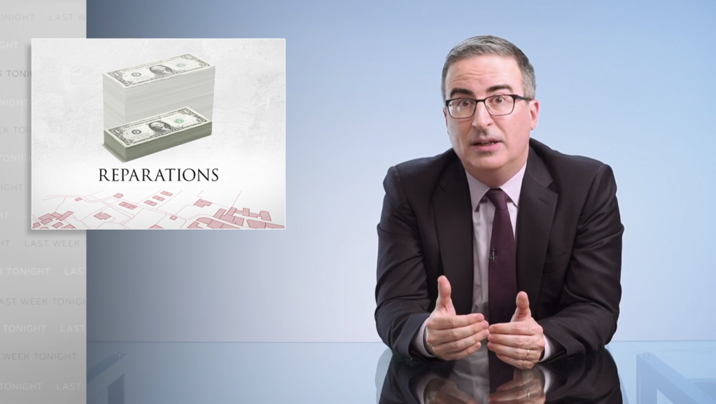 """'Last Week Tonight': John Oliver Makes Case For Housing Reparations For Black Americans, """"Make It Right By Paying What You Owe"""".jpg"""