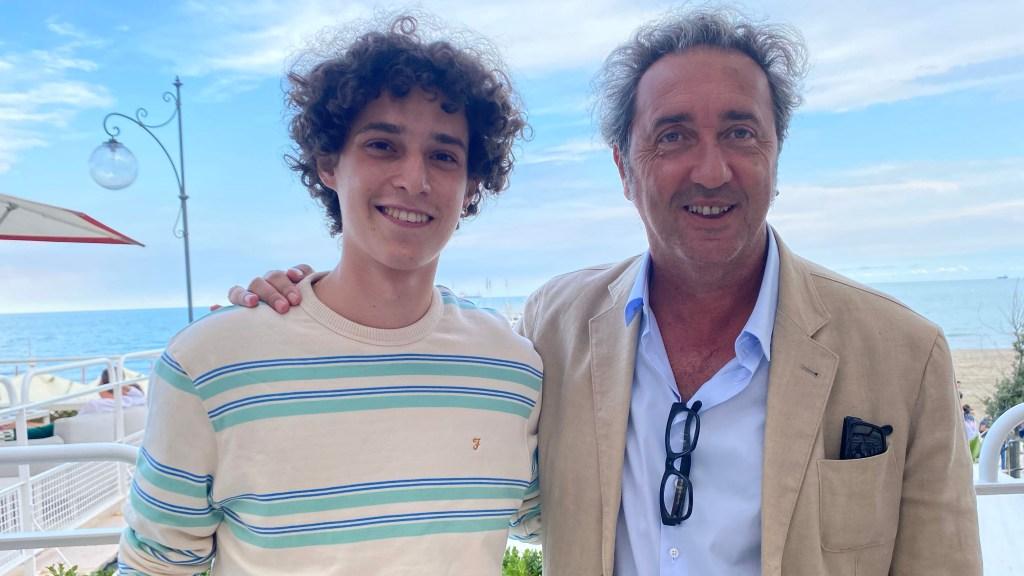 Filippo Scotti and Paolo Sorrentino