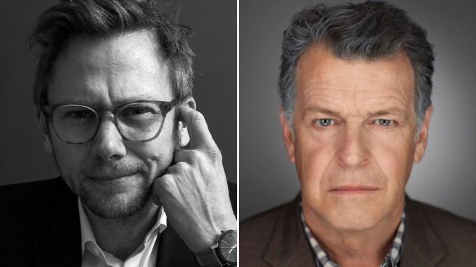 Portraits of actors Jimi Simpson and John Noble from Star Trek: Prodigy