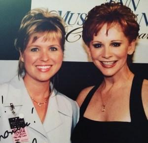 Lisa Lee and Reba McEntire