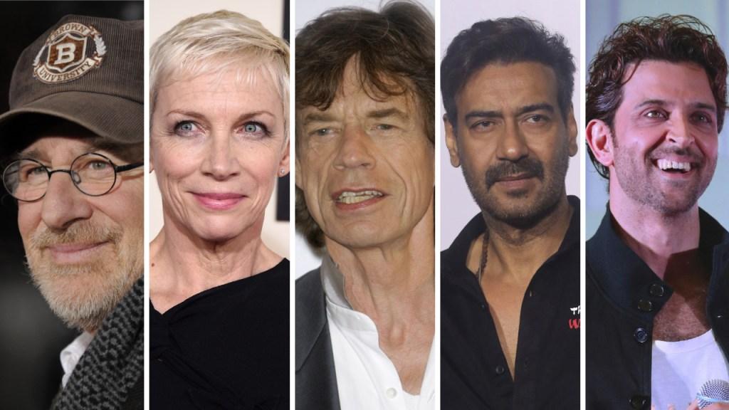 Steven Spielberg, Annie Lennox, Mick Jagger, Ajay Devgn, Hrithik Roshan