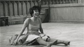 Rita Moreno rehearsing for 'West Side Story'