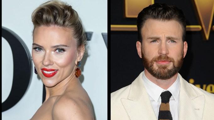 Apple, Skydance Reuniting Marvel Superhero Stalwarts Scarlett Johansson & Chris Evans In Dexter Fletcher-Directed 'Ghosted'