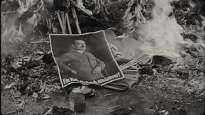 A photo of Hitler amid debris in 'The Meaning of Hitler'