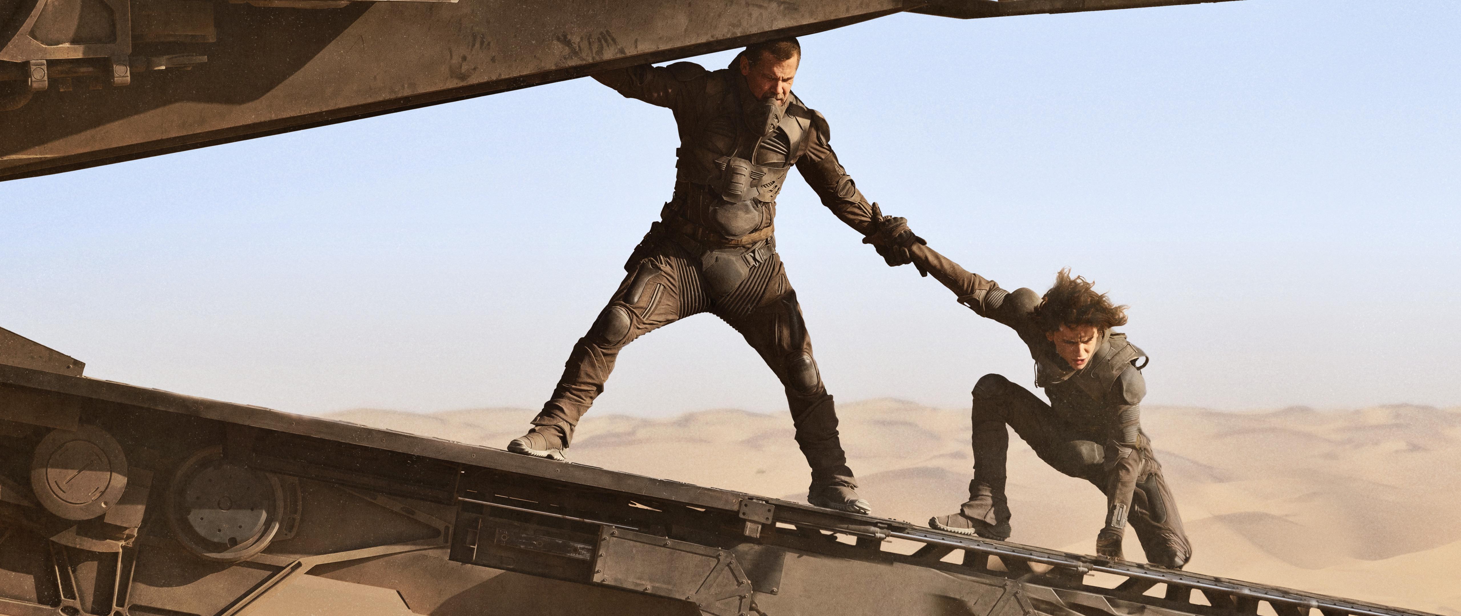 Josh Brolin and Timothee Chalamet in Dune