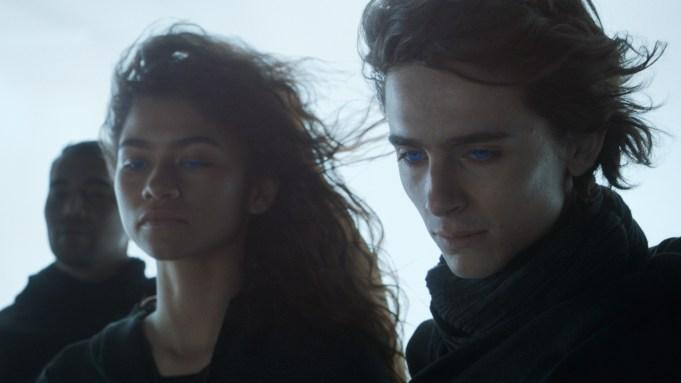 Zendaya and Timothee Chalamet in Dune