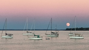 Moonrise in Rockland, Maine