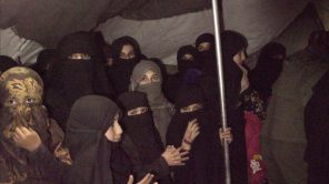 Women and girls in Al Hol camp in Syria