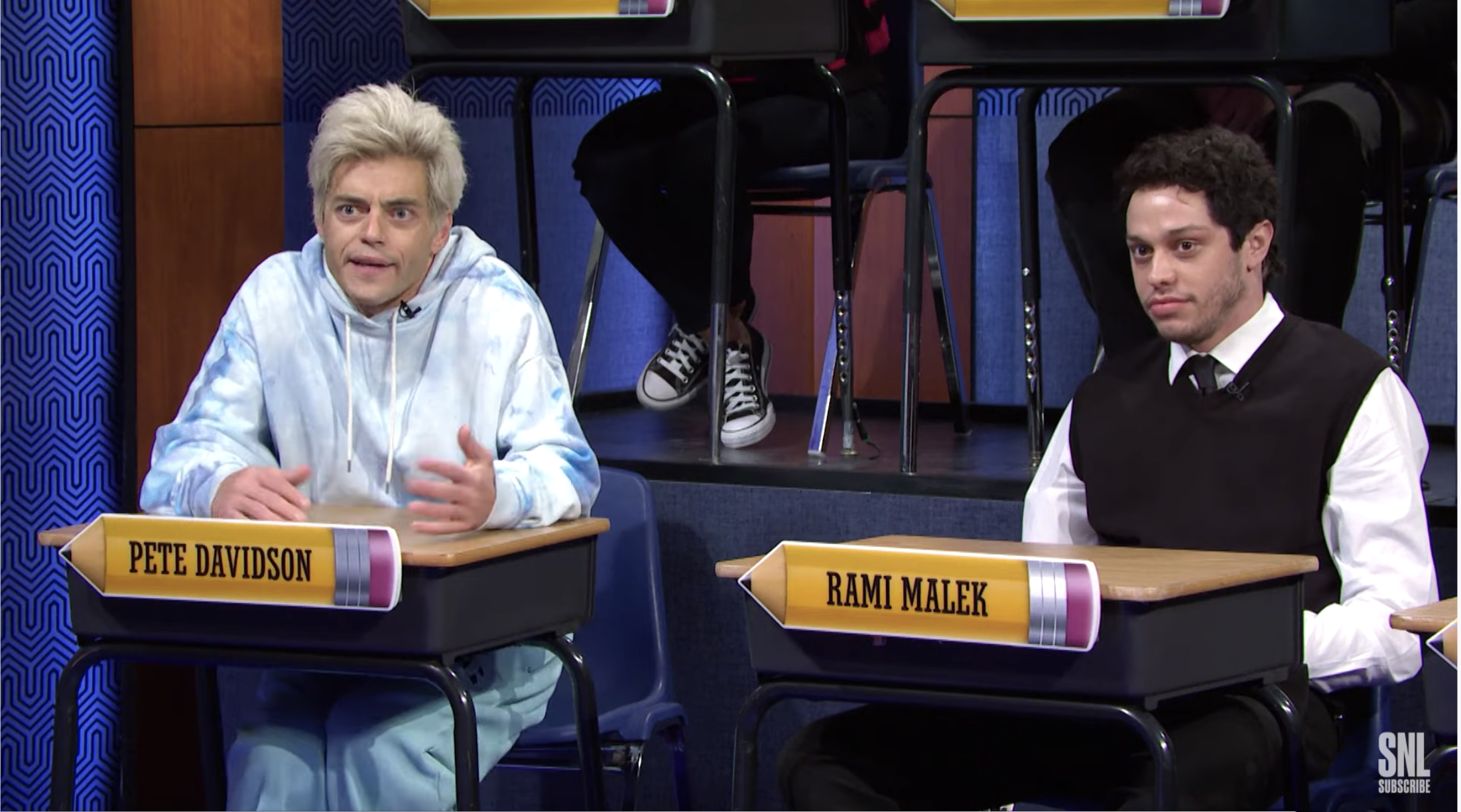 Rami Malek & Pete Davidson Impersonate Each Other On 'Saturday Night Live'