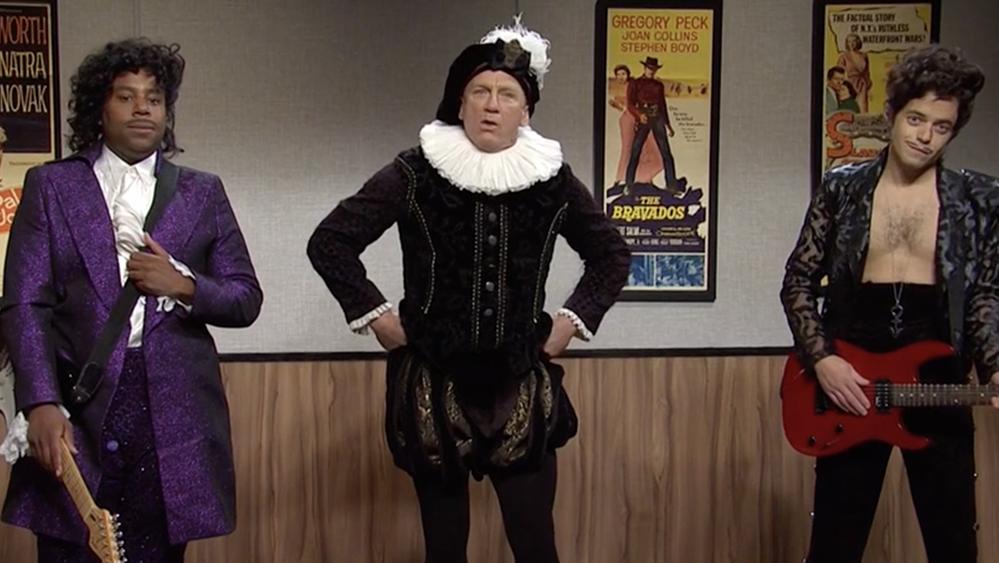 'SNL': Daniel Craig Crashes Rami Malek & Kenan Thompson's Audition For Prince Biopic