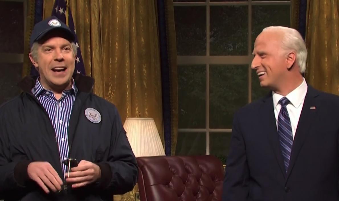 "Jason Sudeikis Returns As The ""Ghost"" Of Joe Biden On ""Saturday Night Live' Cold Open"