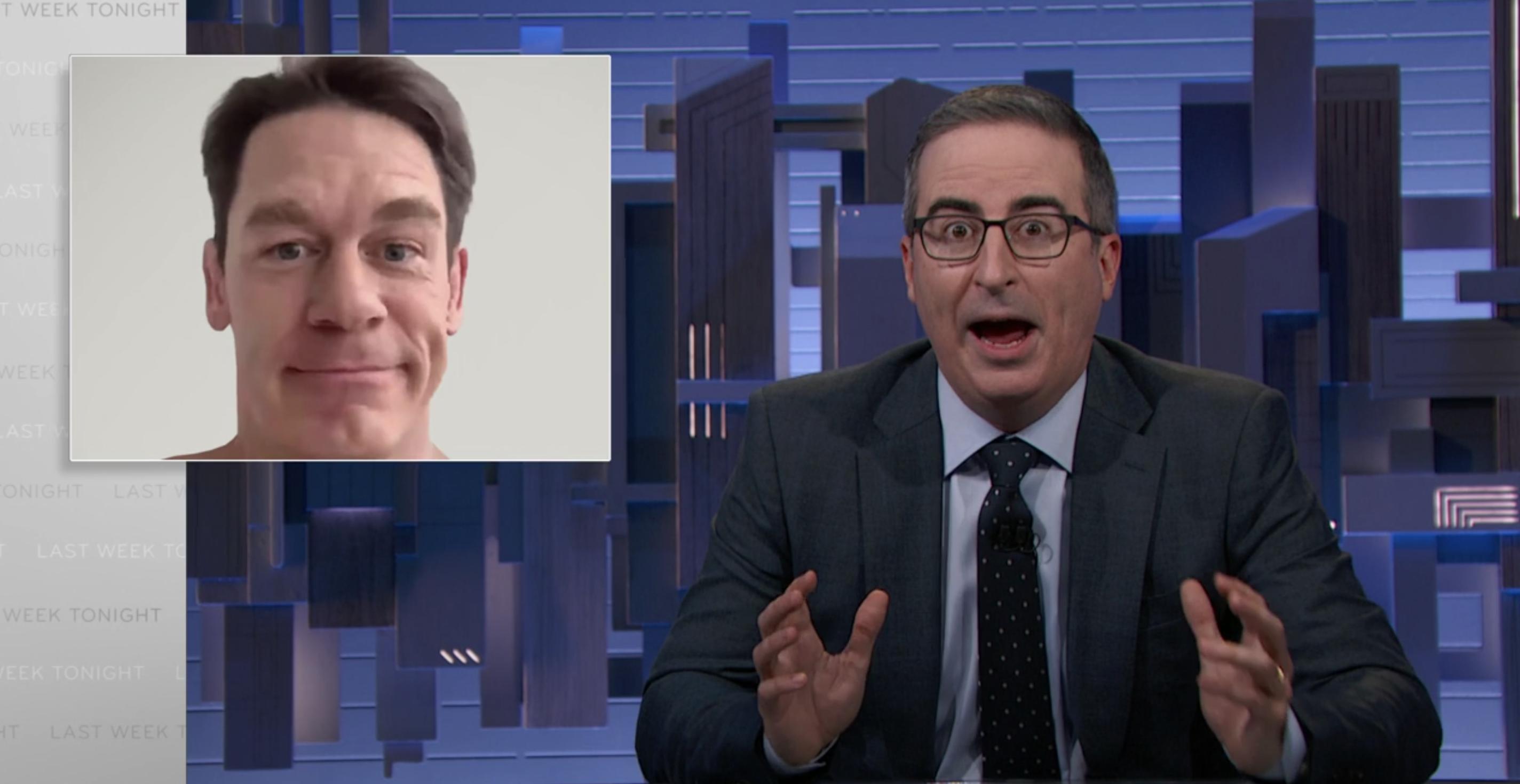 "'Last Week Tonight With John Oliver' Mocks John Cena's ""Weird"" Apology To China"